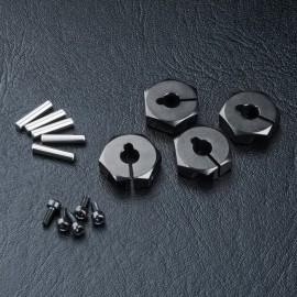 Alum. hex. wheel hubs 4mm