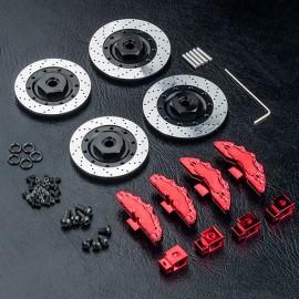Alum. wheel hubs 6mm (large brake disc shaped)