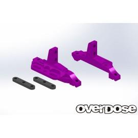 Purple Aluminium Front Upper Bulkhead for XEX