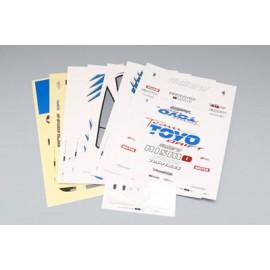 "Yokomo Toyota AE86 Levin ""SunRISE Mercury"" Sticker Sheet"