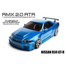 MST RMX 2.0 RTR Nissan R34 GT-R, Blue, Brushless