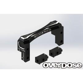 Overdose 2 way layout aluminum servo mount (For Vacula, Divall, Vacula II, GALM / black)