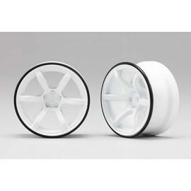 RP Hi-Traction Wheel, +6mm, White (2)