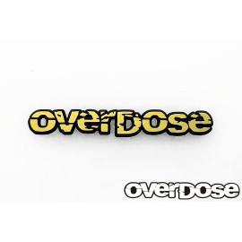 Overdose gold letter 3D emblem