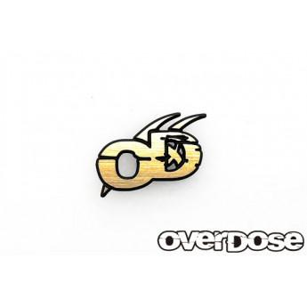 Overdose gold logo 3d emblem
