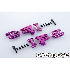 Overdose Adjustable Aluminum Rear Suspension Arm Type 2 - Purple
