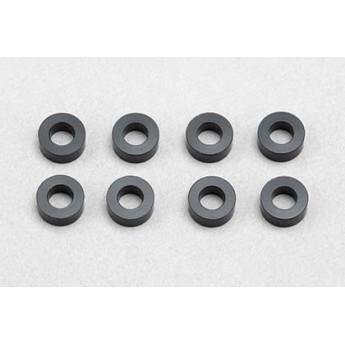 Black aluminium 2.5mm spacer set - 8 pcs