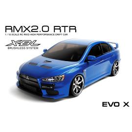 MST RMX 2.0 RTR Mitsubishi Evo X, Blue, Brushless