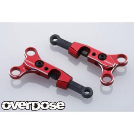 Red Adjustable Aluminum Front Upper Arm Set for OD