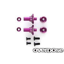 OD Aluminum One Piece Axle Shaft 6mm, purple (2)