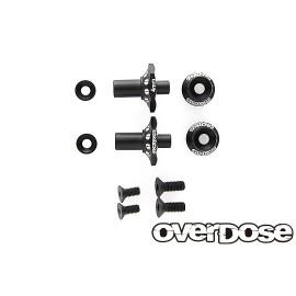 OD Aluminum One Piece Axle Shaft 6mm, black (2)