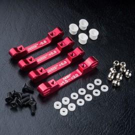 FXX/XXX-D S Alum. lower arm mount set (red)